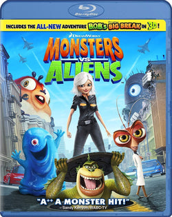 Monsters vs. Aliens on Blu-Ray Blaze DVDs DVDs & Blu-ray Discs > Blu-ray Discs