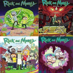 Rick and Morty TV Series Seasons 1-4 DVD Set Blaze DVDs DVDs & Blu-ray Discs > DVDs