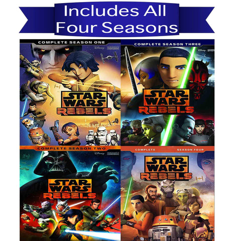 Star Wars Rebels DVD Seasons 1-4 Set Buena Vista Home Entertainment DVDs & Blu-ray Discs > DVDs