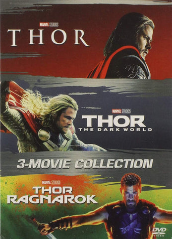 Thor DVD Series Movies 1-3 Set Includes All 3 Movies Marvel Comics DVDs & Blu-ray Discs