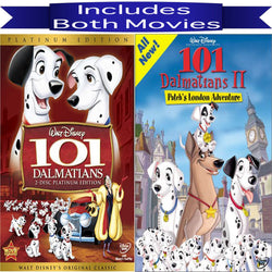 Walt Disney's 101 Dalmatians 1&2 DVD Set 2 Movie Collection Walt Disney DVDs & Blu-ray Discs > DVDs