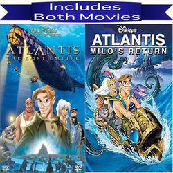 Walt Disney's Atlantis 1&2 DVD Set 2 Movie Collection Walt Disney DVDs & Blu-ray Discs > DVDs