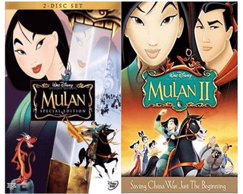Walt Disney's Mulan 1&2 DVD Set 2 Movie Collection Walt Disney DVDs & Blu-ray Discs > DVDs