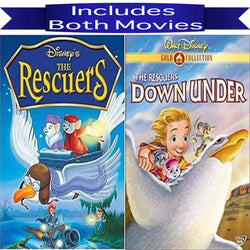 Walt Disney's The Rescuers & The Rescuers Down Under DVD Set 2 Movie Collection Walt Disney DVDs & Blu-ray Discs > DVDs