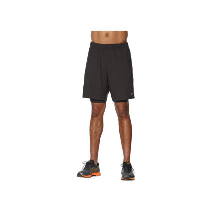 "ASICS Mens Race 2-in-1 7"" Short"