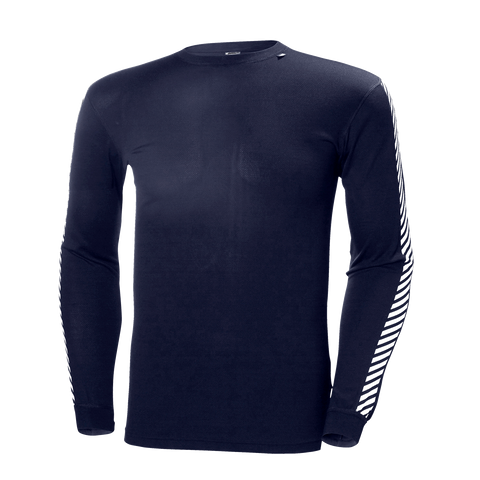 Helly Hansen Mens Lifa Stripe Crew Baselayer