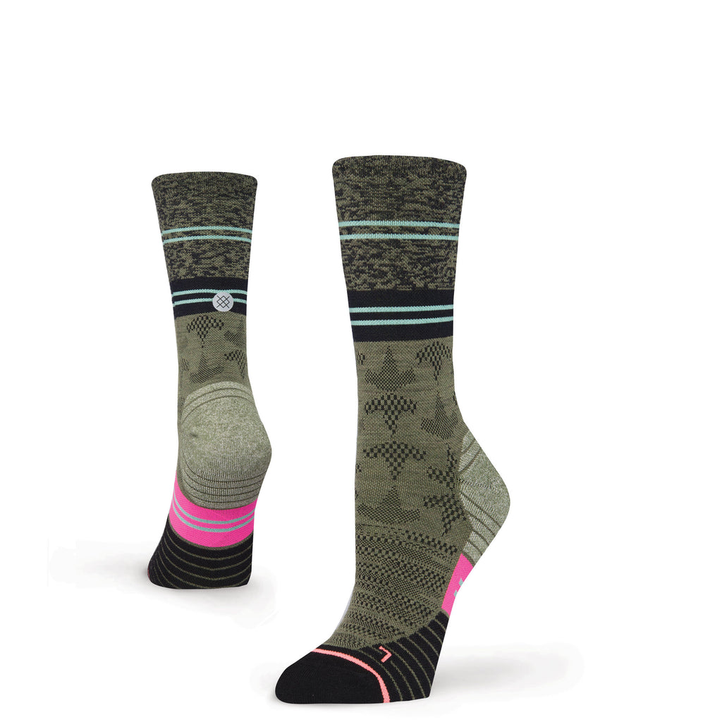 Stance Fusion Run Elipse Crew Height Womens Socks