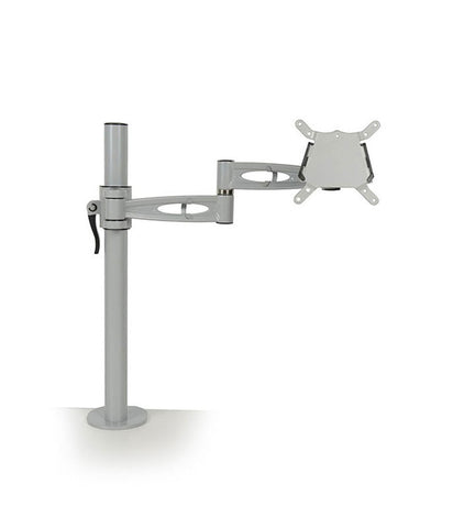 KARDO Pole Mounted Single Monitor Arm - Silver (with 700mm pole)