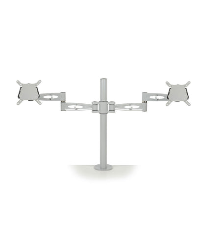 KARDO Pole Mounted Duel Monitor Arm - Silver