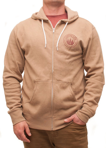 Men's Outfitted Zip Up Hoodie Sandstone