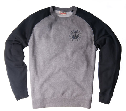 Outfitted Two-Tone Crewneck Fleece