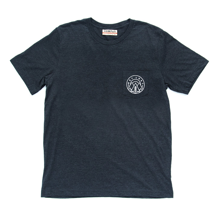 Get Lost Emblem Pocket Tee