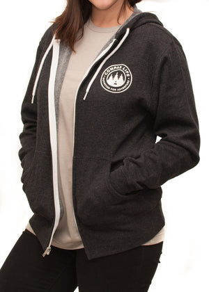 Women's Outfitted Zip Up Hoodie Charcoal