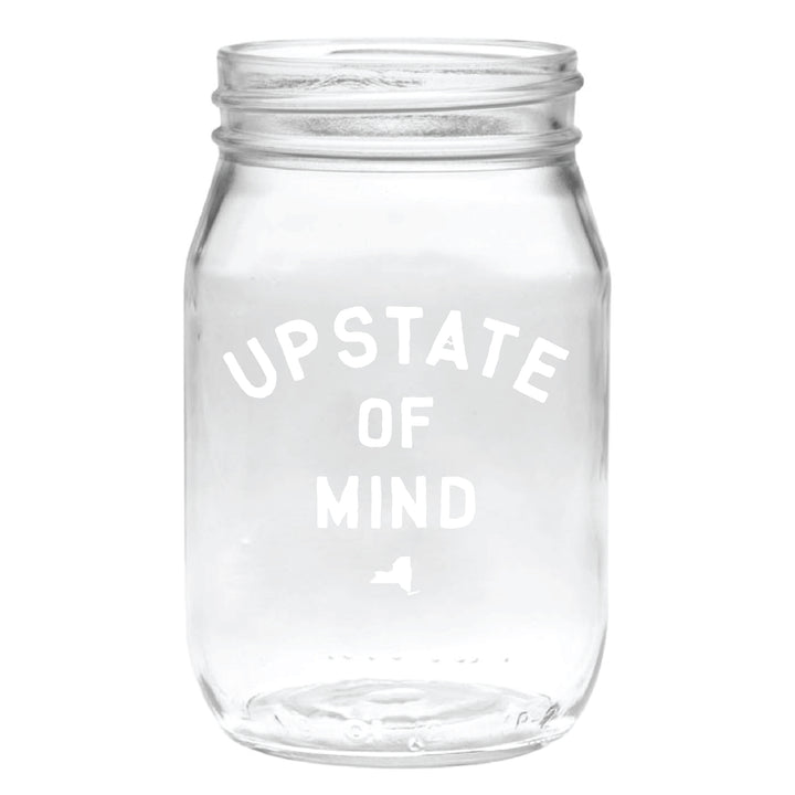 Upstate of Mind Mason Jar Pint Glass