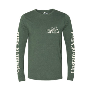 Upstate of Mind Pine Tree Longsleeve Tee - Forest Green