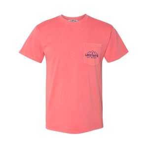 Upstate of Mind Mountainside Pocket Tee - Salmon