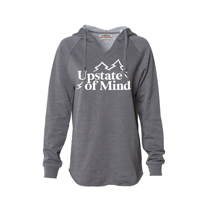 Upstate of Mind - Women's Pine Tree Pullover - Graphite Heather