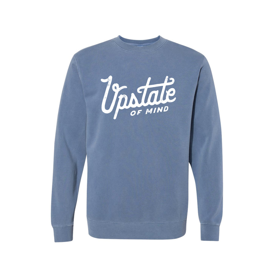 Upstate of Mind - Heritage Script Crewneck - Navy Wash