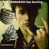 "Vintage antique cuban cigar bands come to life as Sterling Silver Cigar Band Rings in 3D fashion statements. Shown here on Reeve Carney of Penny Dreadful, Spider-Man Turn Off the Dark, Rocky Horror Picture Show on Fox and I Knew You Were Trouble. Also a musician with a newly released album ""Truth"", available on iTunes."