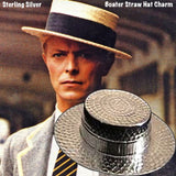 "Inspired by the American Movie Channel and worn by legends like Maurice Chevalier and Fred Astaire...this straw hat charm looks just like the real thing! 1-7/16"" x 5/16"" Sterling Silver ""Boater"" Straw Hat which is an icon of the American ""song and dance"" men like Fred Astaire and Gene Kelly and were essentially summer hats, the dressiest of which is known as the ""boater"", ""sailor"" and ""skimmer"" hats. Their unique design was distinguished by its flat top crown. It was a popular hat in 1930's for yachting and"