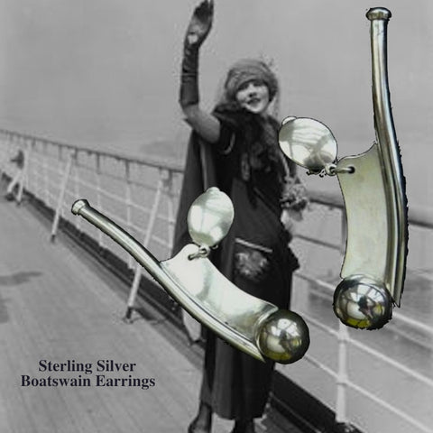 Boatswain Whistle Earrings