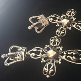 Cross &  Crown Earrings