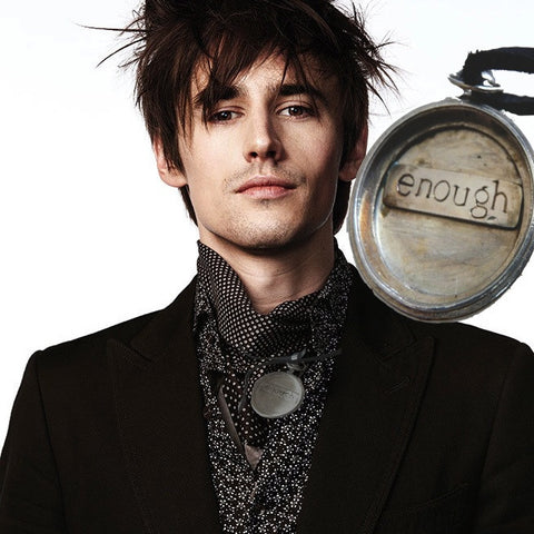 "On Reeve Carney, Showtime's Penny Dreadful's Dorian Gray, whose gift is eternal life and youth.Sterling Silver Pocket Watch Case holds only the word ""enough"".Look at this twice. It's not a shout, it's serene whisper--a quiet reminder that we are each enough,just as God made us--it's also the perfect amount of time each of us requests for this beautiful life. A substantial piece at appproximately 2"" in diameter. Hand-signed and hand made in America. Comes with a yard of leather cord or vintage-looking ribbon"