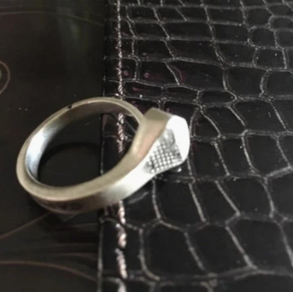 The Vintage Finished Sterling Silver Coffin Nail Ring worn by Reeve Carney (Spider-Man/Penny Dreadful's Dorian Gray/Youth is Wasted as Riff Raff in Fox TV's Rocky Horror Picture Show. Fables Jewelry, Fablesintheair by Marti Heil. Handmade in the USA.