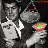 "With Dean Martin, Fablesintheair's Stering Silver Gin Tag Charm.Meant to adorn a neck of a different kind, this Gin Tag adapts beautifully, and why NOT? With its beautiful 2"" of on of my most favorite chains attached to the perfect bail, which opens and snaps over beads or pearls easily or slips through the most rugged chain. Engraved and ornate and available in either shiny or my vintage oxidized finish. Even teetotalers like this!  (Chains sold separately.)  1-3/4"" x 1"" x 2"" approximately.  Sterling Silve"