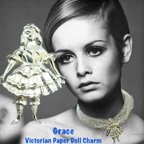 """Grace"" Victorian Paper Doll Charm"