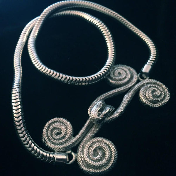 "Sterling Silver Hooked on You Choker. Braided hook and eye1-7/8"" x 1"". approximately. Necklace Length 16"". Made in the USA. Hand signed. Genderless."