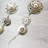 Hanging By a Thread Triple Button Earring