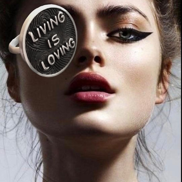 LIVING IS LOVING RING