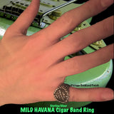 """Mild Havana"" Cigar Band Ring"