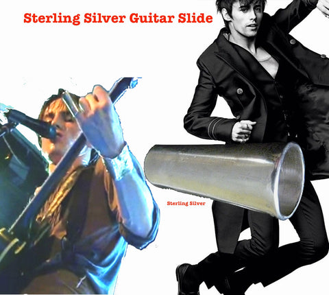 I designed this slide specifically for my son, Reeve Carney. Since Sterling Silver is softer than brass, the usual metal used for guitar slides, it alters the tone uniquely and Reeve responded to that and it quickly became his favorite and only slide. Fablesintheair. Fables by Marti Heil. The most whimsical jewelry on the planet.