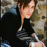 "Reeve Carney in Scissorhands Cuff.This little cuff really gets around, too! It's featured in numerous magazines, both print and online versions and blogs, including ""Rolling Stone"" on Reeve Carney originated the role Peter Parker in the Broadway production of ""Spider-Man Turn Off The Dark"", and went on to play the part of Dorian Gray in Showtime's Penny Dreadful and, recently, Riff Raff in Fox's Rocky Horror Picture Show. He is currently touring with his first solo album, ""Truth"", which is available on iTun"