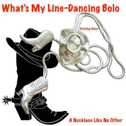 """What's My Line-Dancing"" Bolo Necklace"
