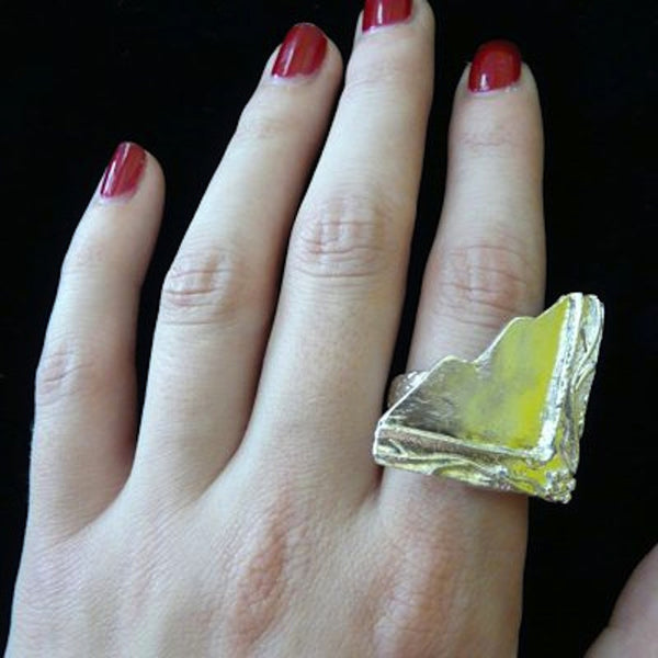 Mirror, Mirror on My Hand Cocktail Ring