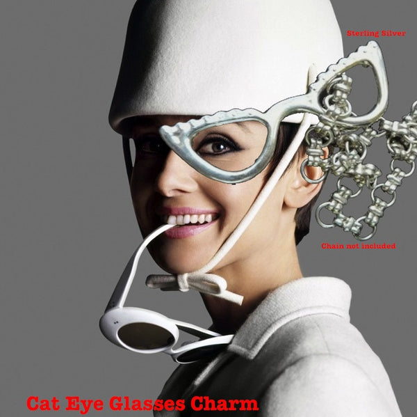 Cat- Eye Glasses Charm