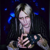 The Vintage Finished sterling silver Coffin nail and R rings worn by Reeve Carney as Riff Raff in the new Fox TV Rocky Horror Picture Show-Let's Do The Time Warp Again. Fables Jewelry by Marti Heil. Handmade in the USA.