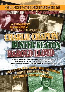 Charlie Chaplin/Buster Keaton/Harold Lloyd Triple Feature: A Burlesque On Carmen, Steamboat Bill, Jr. And The Sin Of Harold Diddlebock (DVD)