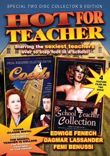 Hot For Teacher: Four Feature Films - Coeds (Classe Mista), The School Teacher, The School Teacher In College, The School Teacher In The House (DVD)