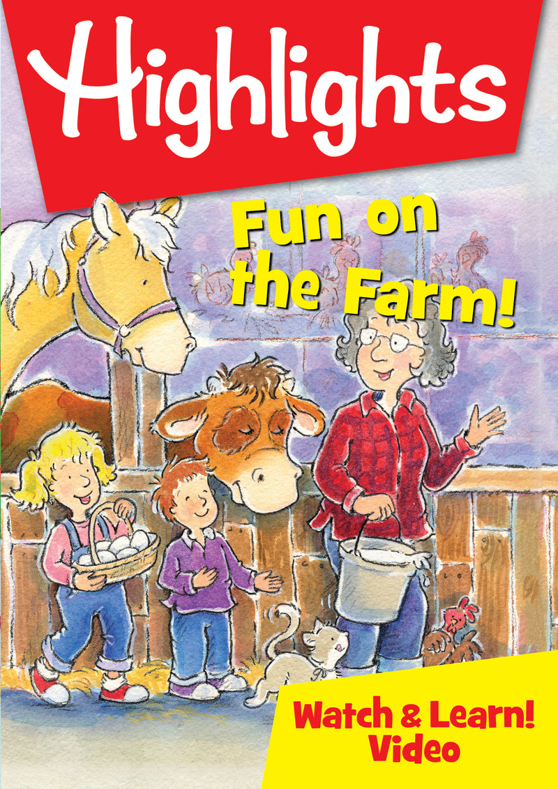 Highlights Watch & Learn!: Fun On The Farm! (DVD)