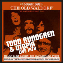 Todd Rundgren & Utopia - Live At The Old Waldorf, San Francisco: August 1978 (CD)
