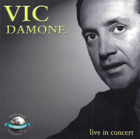 Vic Damone - Live In Concert (CD)