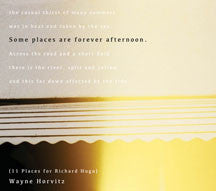 Wayne Horvitz - Some Places Are Forever Afternoon (11 Places For Richard Hugo) (CD)