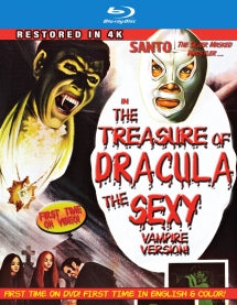 Santo In The Treasure Of Dracula: The Sexy Vampire Version 4k Restoration (In Color) (Blu-ray)