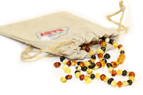 100% Natural Baltic Amber Teething Necklace