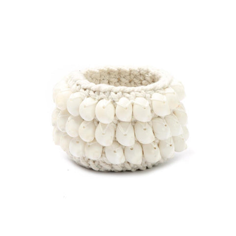 The Kai Macramé Candle Holder White