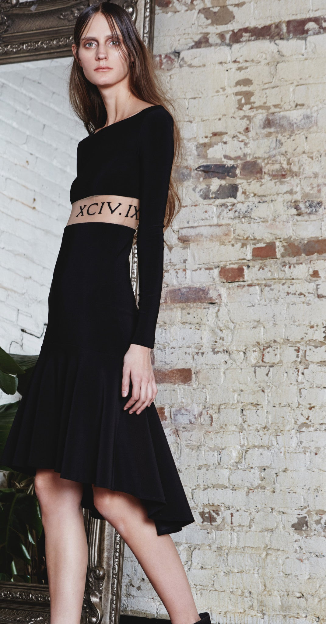 Tattoo Flared Midi Dress